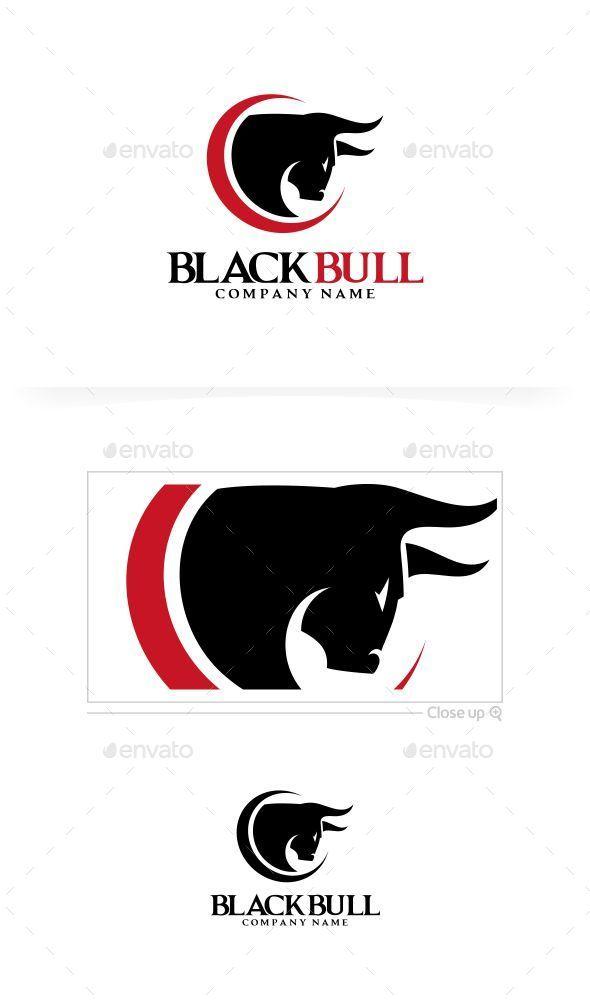Black Bull Logo Template - Animals Logo Templates
