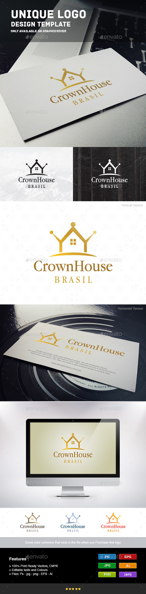 Crown Home - Crests Logo Templates