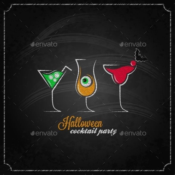 Halloween Party Cocktails Background - Halloween Seasons/Holidays