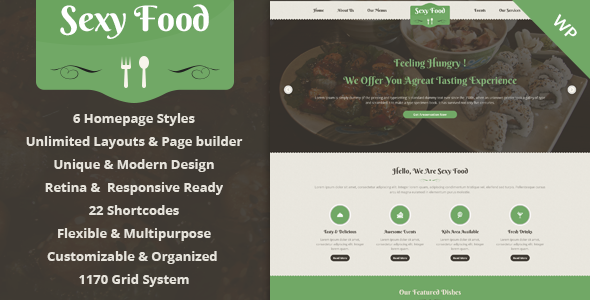 Sexy Food – Food & Restaurant WordPress Theme