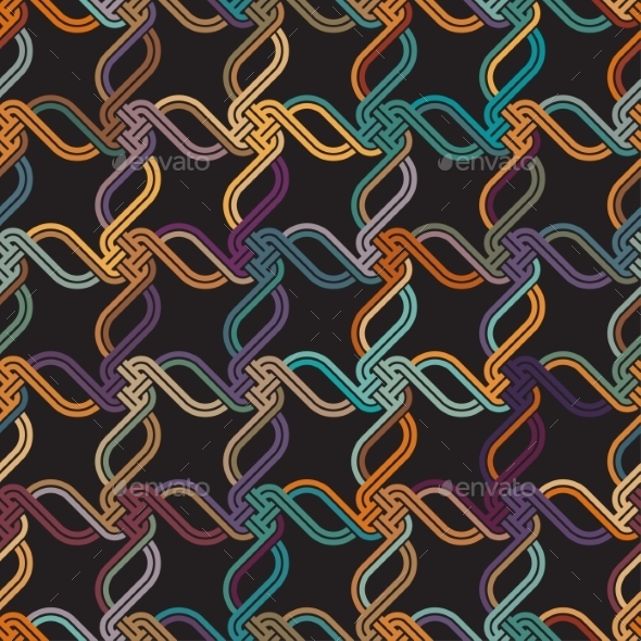 Macrame Color Seamless Pattern - Patterns Decorative