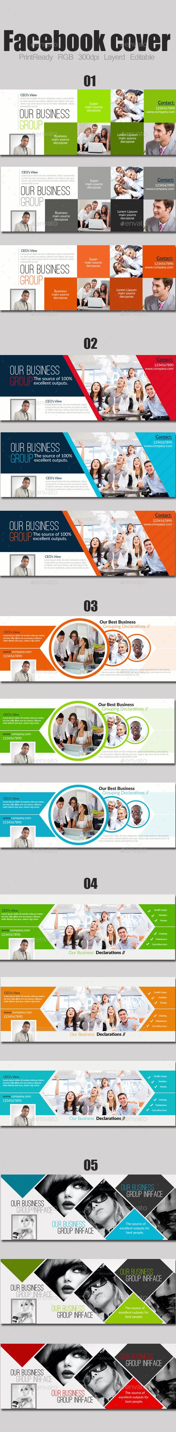 Business Timelines Bundle - Facebook Timeline Covers Social Media