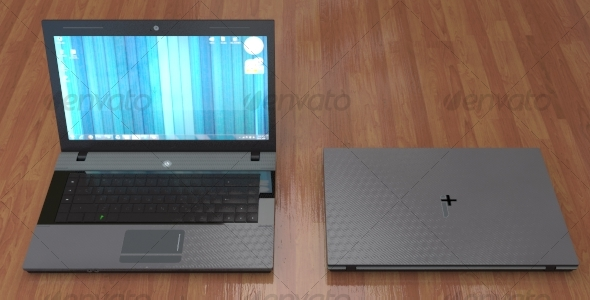 Sleek Photorealistic Laptop, iPlus Special Edition - 3DOcean Item for Sale