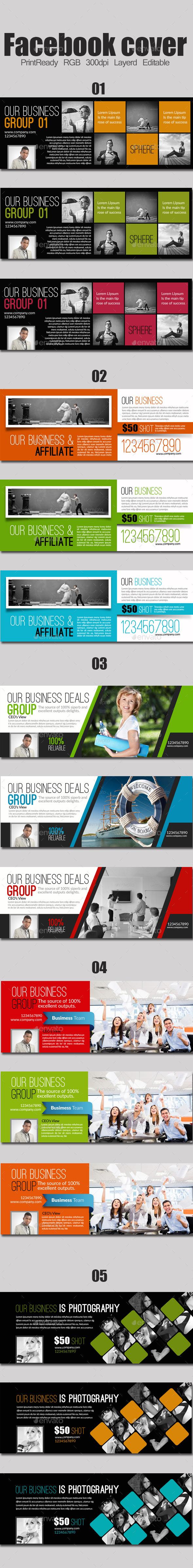 Multi use Timeline Bundle - Facebook Timeline Covers Social Media