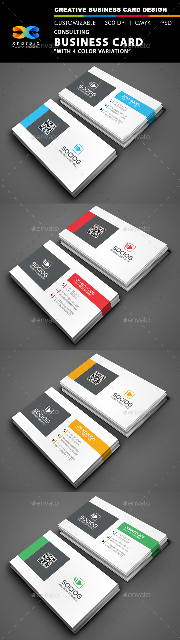 Consulting Business Card - Corporate Business Cards