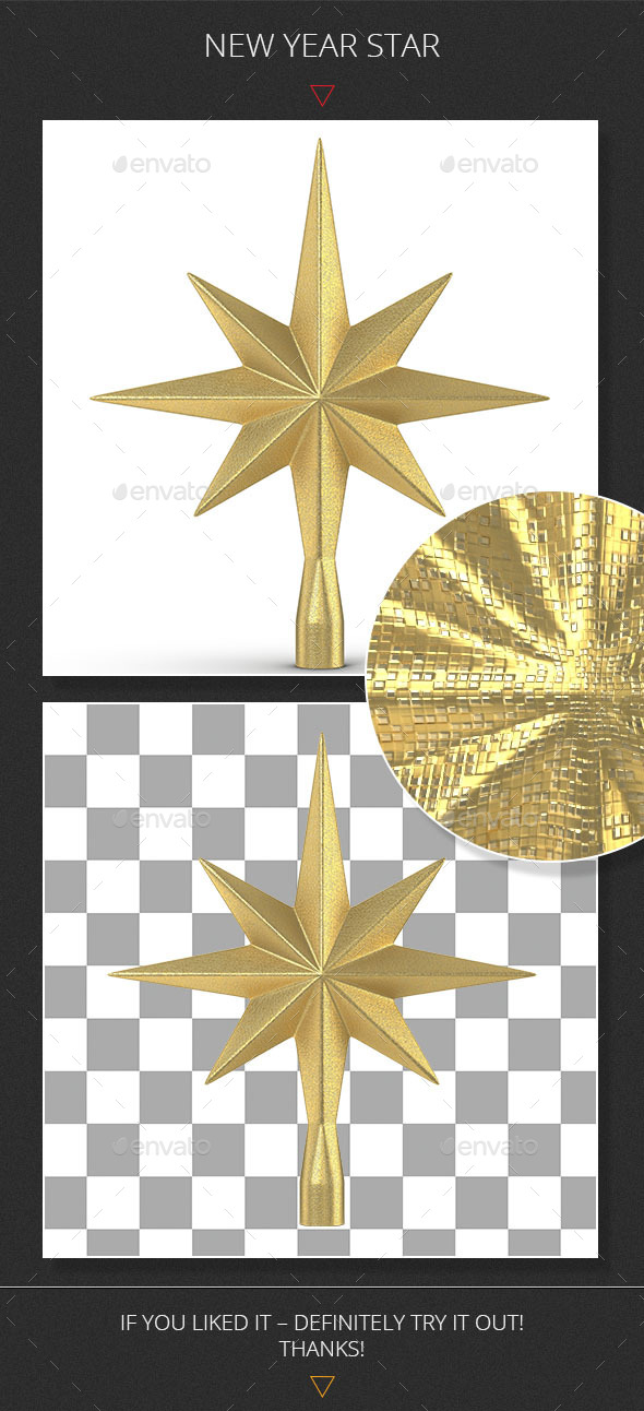 New Year Star - Objects 3D Renders