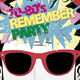 70-80's Remember Party Flyer - GraphicRiver Item for Sale