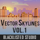 Vector Skylines Vol. 01 - GraphicRiver Item for Sale