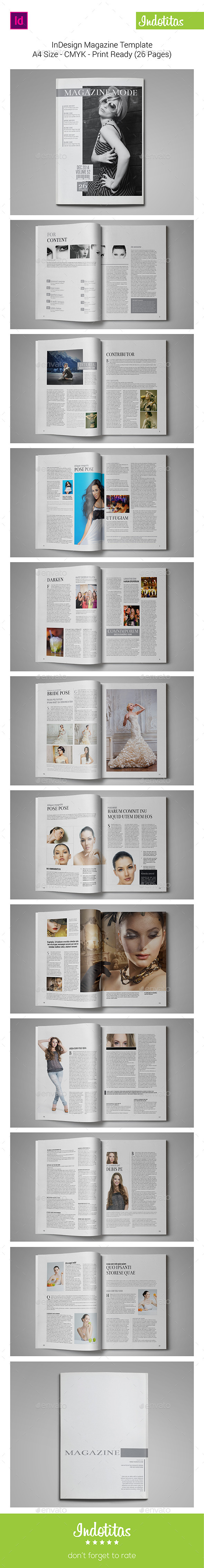 InDesign Magazine Template - Magazines Print Templates