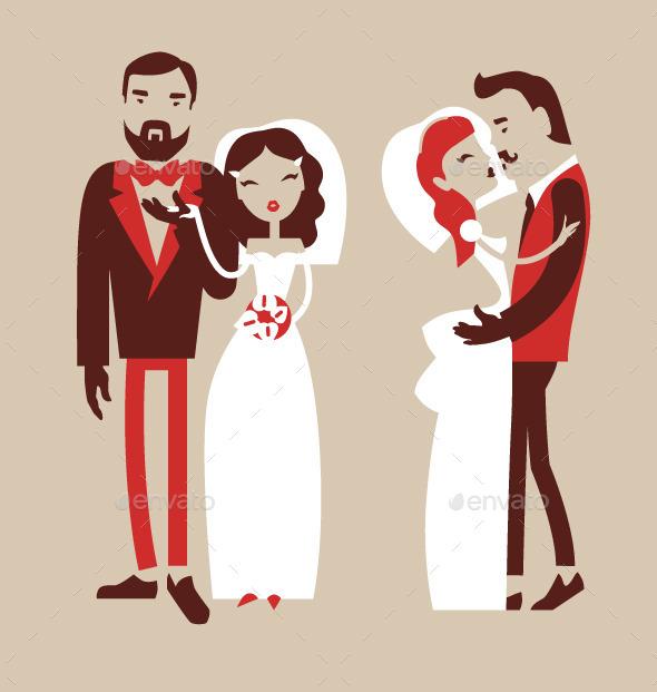 Man and Woman Getting Married - Weddings Seasons/Holidays