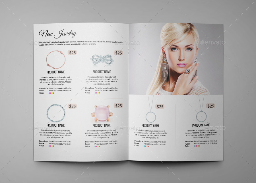 Jewelry A4 Indesign Catalog Template Hp0011 By Annozio | Graphicriver