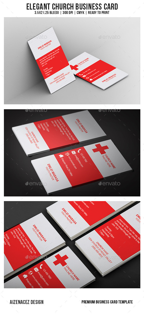 Elegant Church Business Card - Industry Specific Business Cards