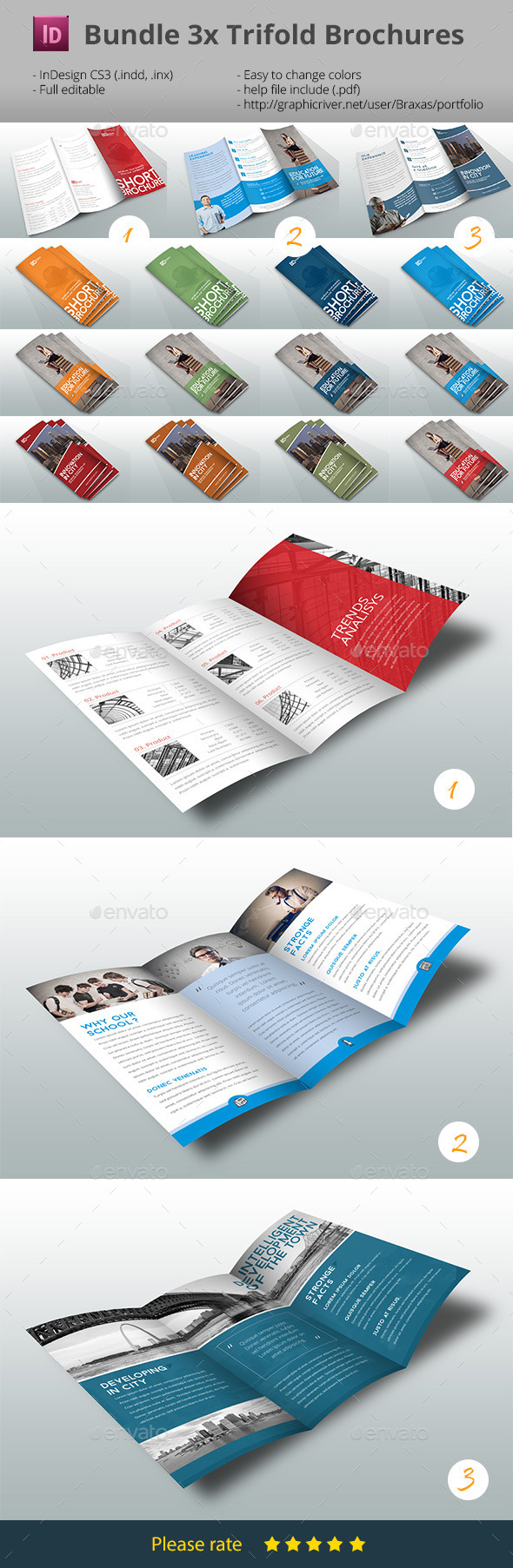 Bundle Trifold Brochure Multicolor - Informational Brochures