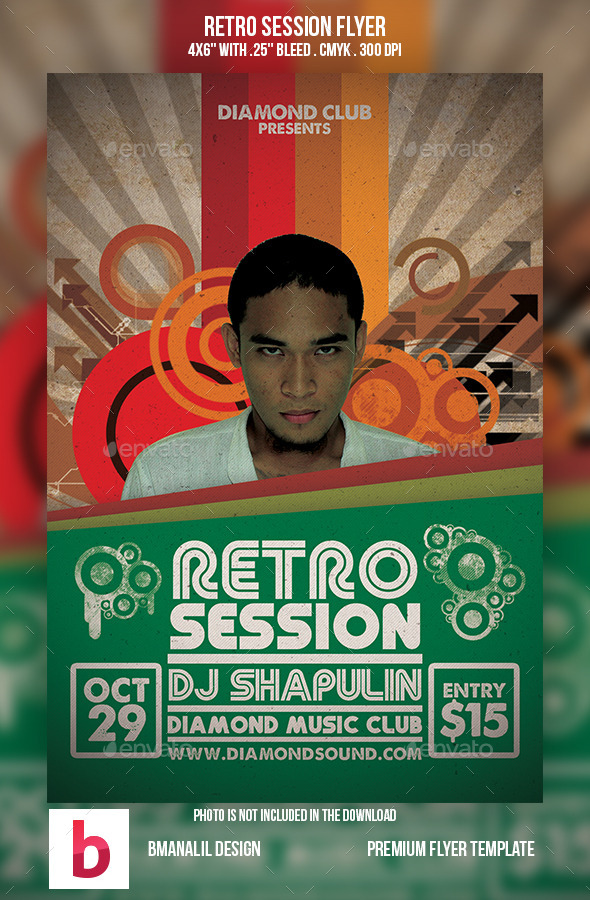 Retro Session Flyer