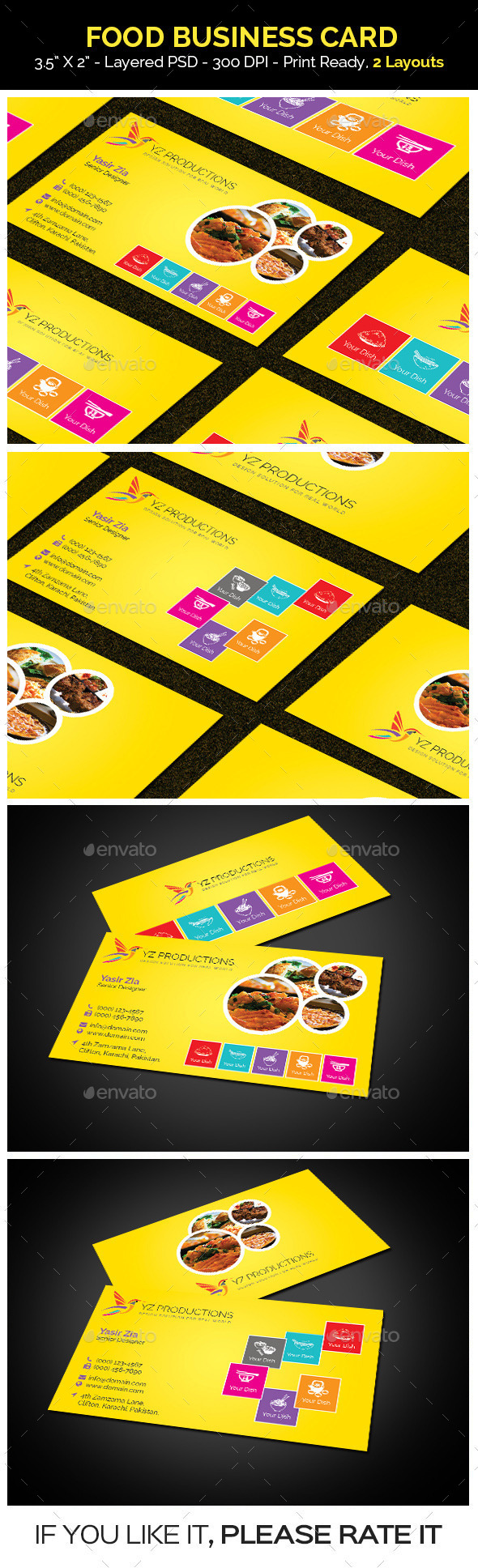 Food Business Card  - Industry Specific Business Cards