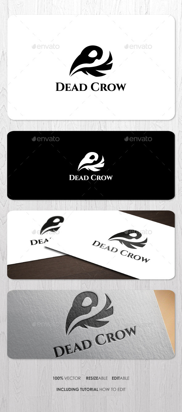 Dead Crow Logo - Animals Logo Templates