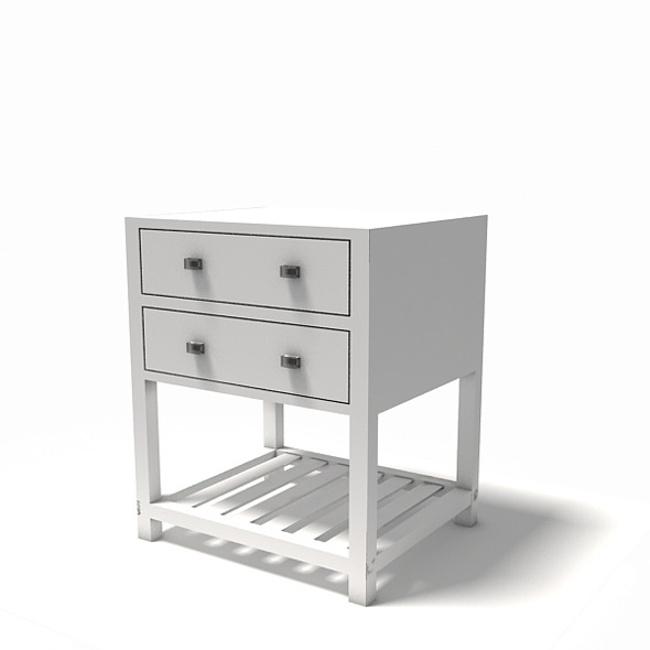 Desk (Interior low poly prop)  - 3DOcean Item for Sale