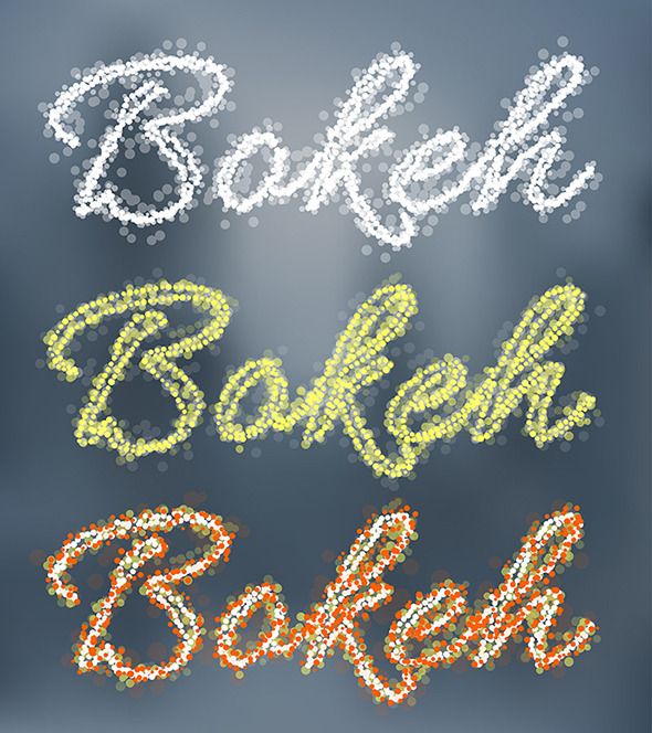 Bokeh Graphic Styles - Styles Illustrator