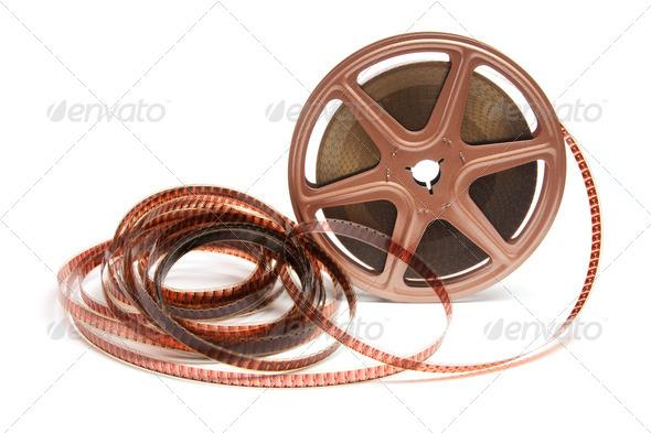 Movie Film Reel - Stock Photo - Images
