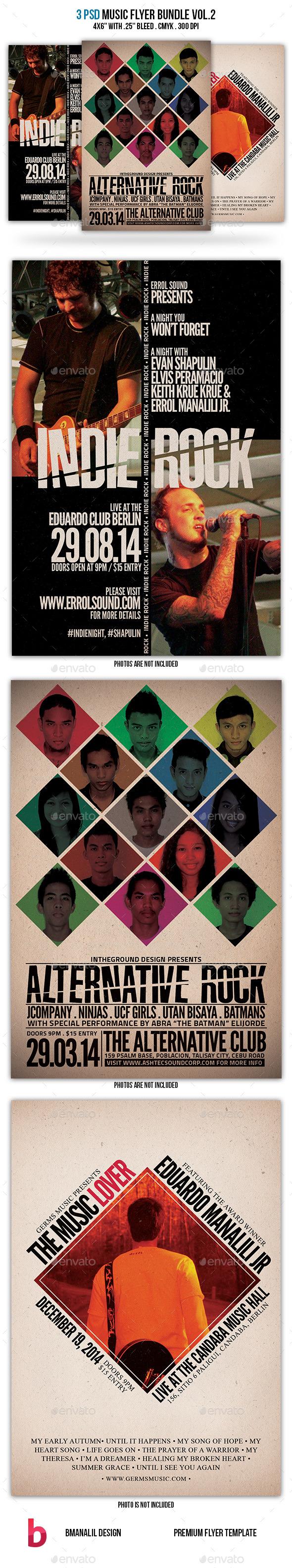 Music Flyer Bundle Vol.2 - Clubs & Parties Events