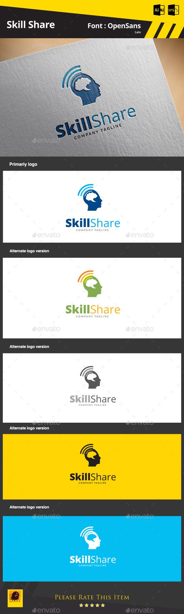 Skill Share - Humans Logo Templates
