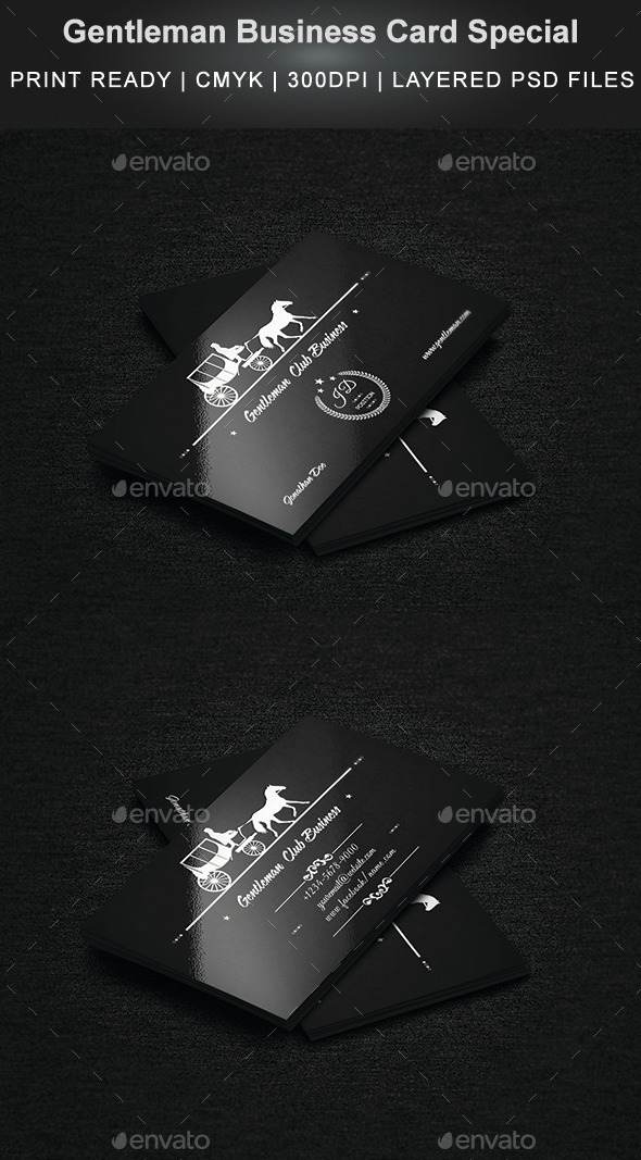 Gentleman Business Card Special - Creative Business Cards