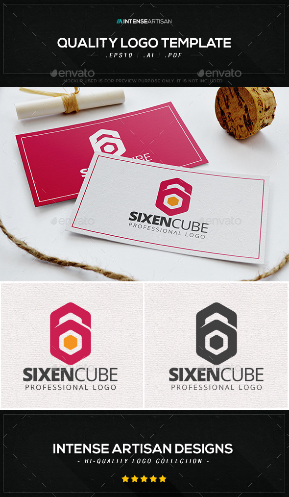 Sixen Cube Logo Template - Numbers Logo Templates