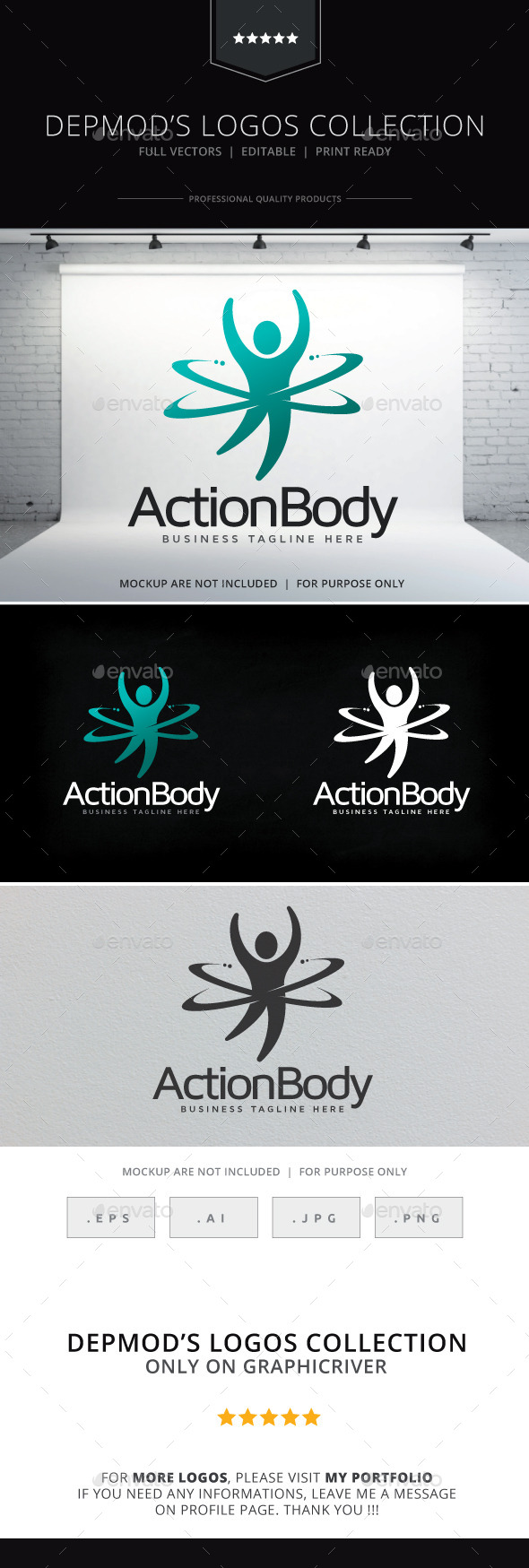 Action Body Logo - Humans Logo Templates