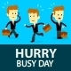 Businessman in a Hurry Busy Day - GraphicRiver Item for Sale