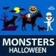Monsters Mash Halloween Characters - GraphicRiver Item for Sale