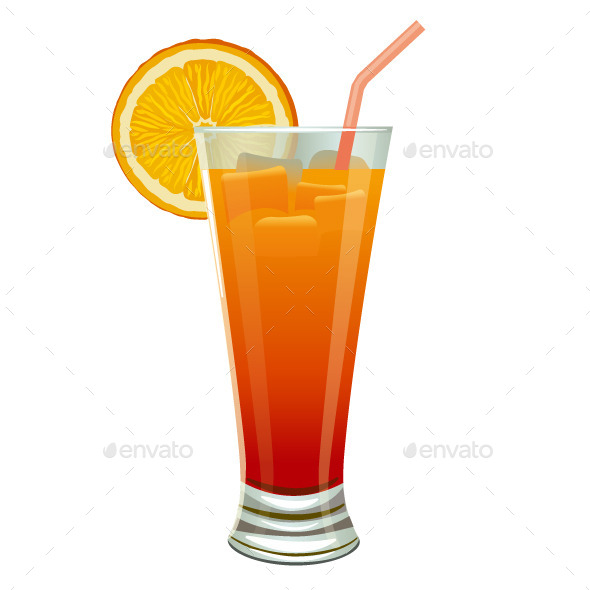 Orange Cocktail - Food Objects