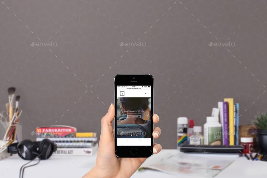 macbook ipad iphone 6 workspace mockups - Ipad And Iphone Mockup
