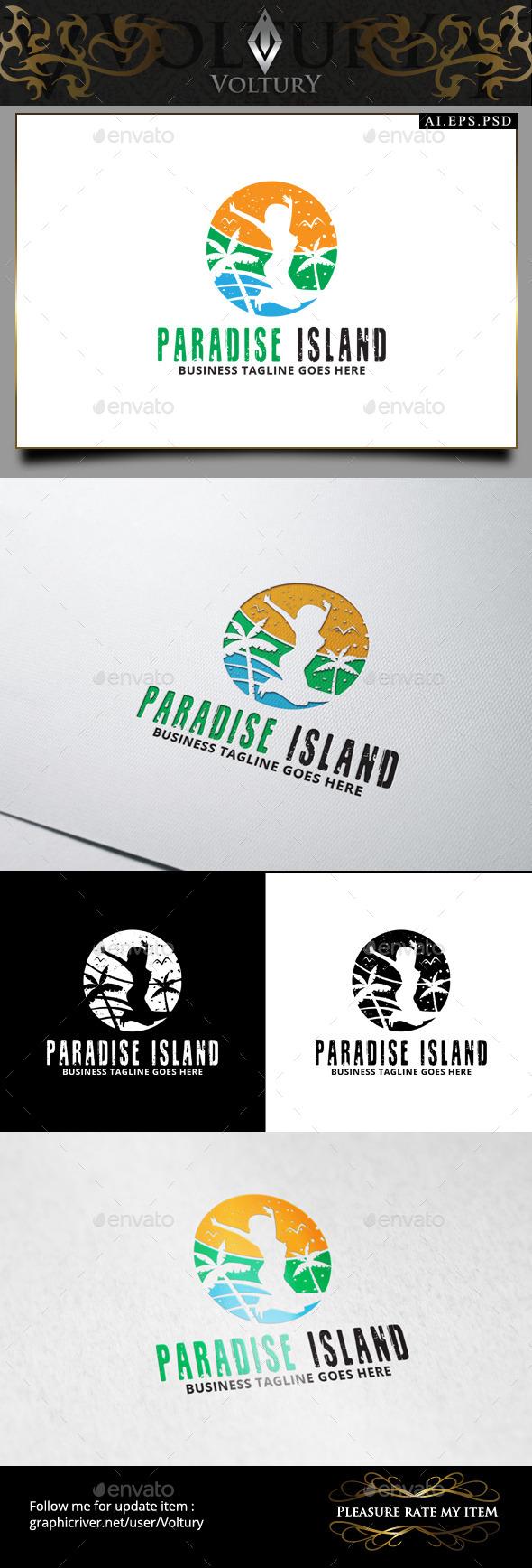 Paradise Island Logo - Nature Logo Templates