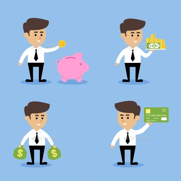 Businessman Financial Concepts - People Characters