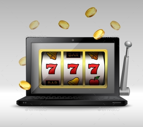 Online Gambling Concept - Miscellaneous Vectors