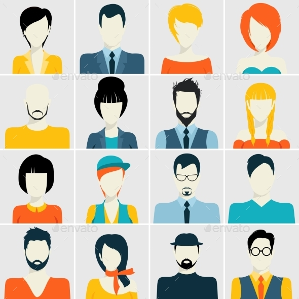 Avatar Icons Set - People Characters