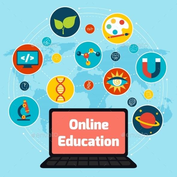 Online Education Concept - Concepts Business
