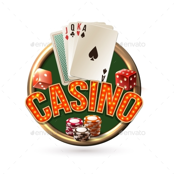 Poker Casino Emblem - Sports/Activity Conceptual