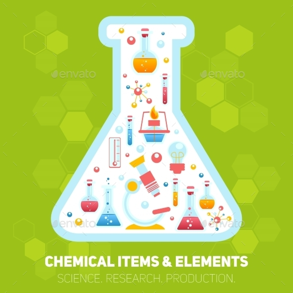 Chemistry Infographics Composition - Miscellaneous Conceptual
