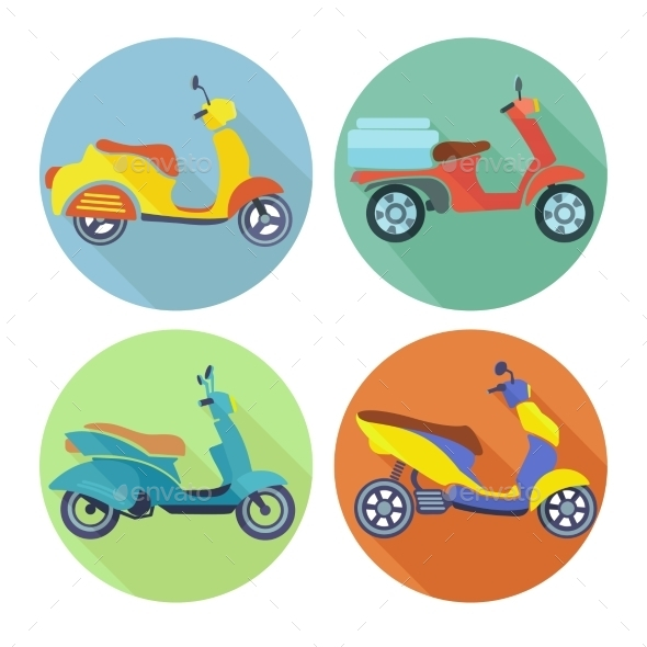Scooter Icons - Travel Conceptual
