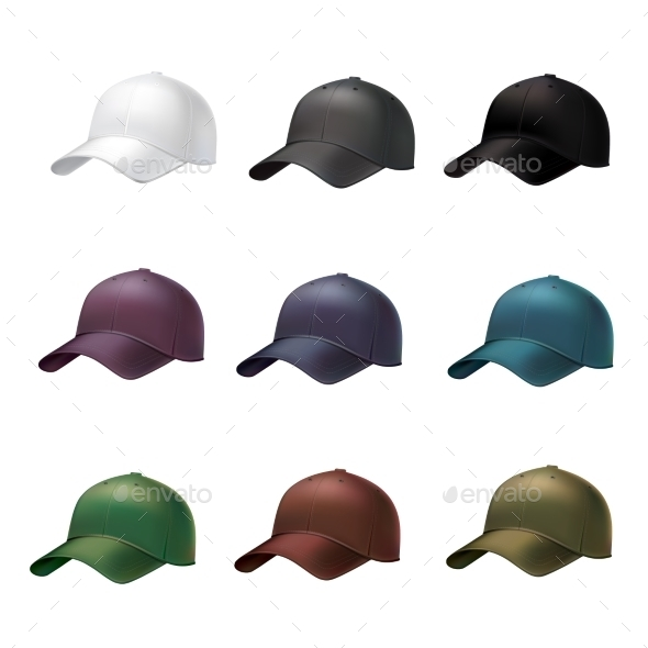Realistic Baseball Cap - Objects Vectors