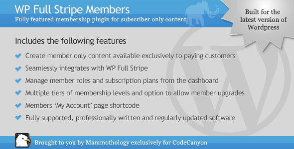 WP Full Stripe Members - Add-on for WP Full Stripe - CodeCanyon Item for Sale