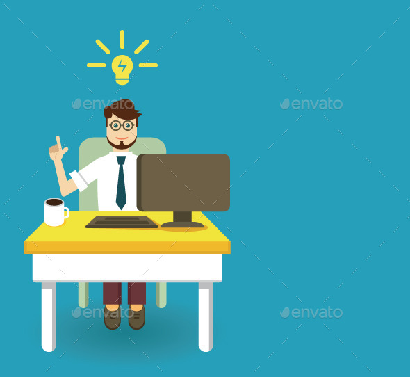 Businessman and Innovation Idea with Copyspace - Business Conceptual