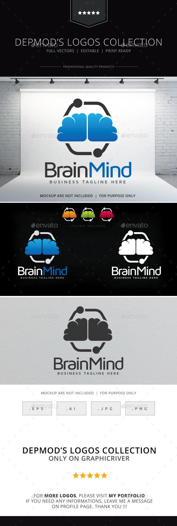Brain Mind Logo - Symbols Logo Templates