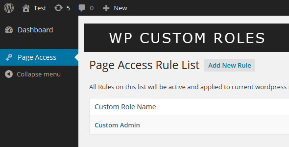 Wordpress Custom Role - CodeCanyon Item for Sale