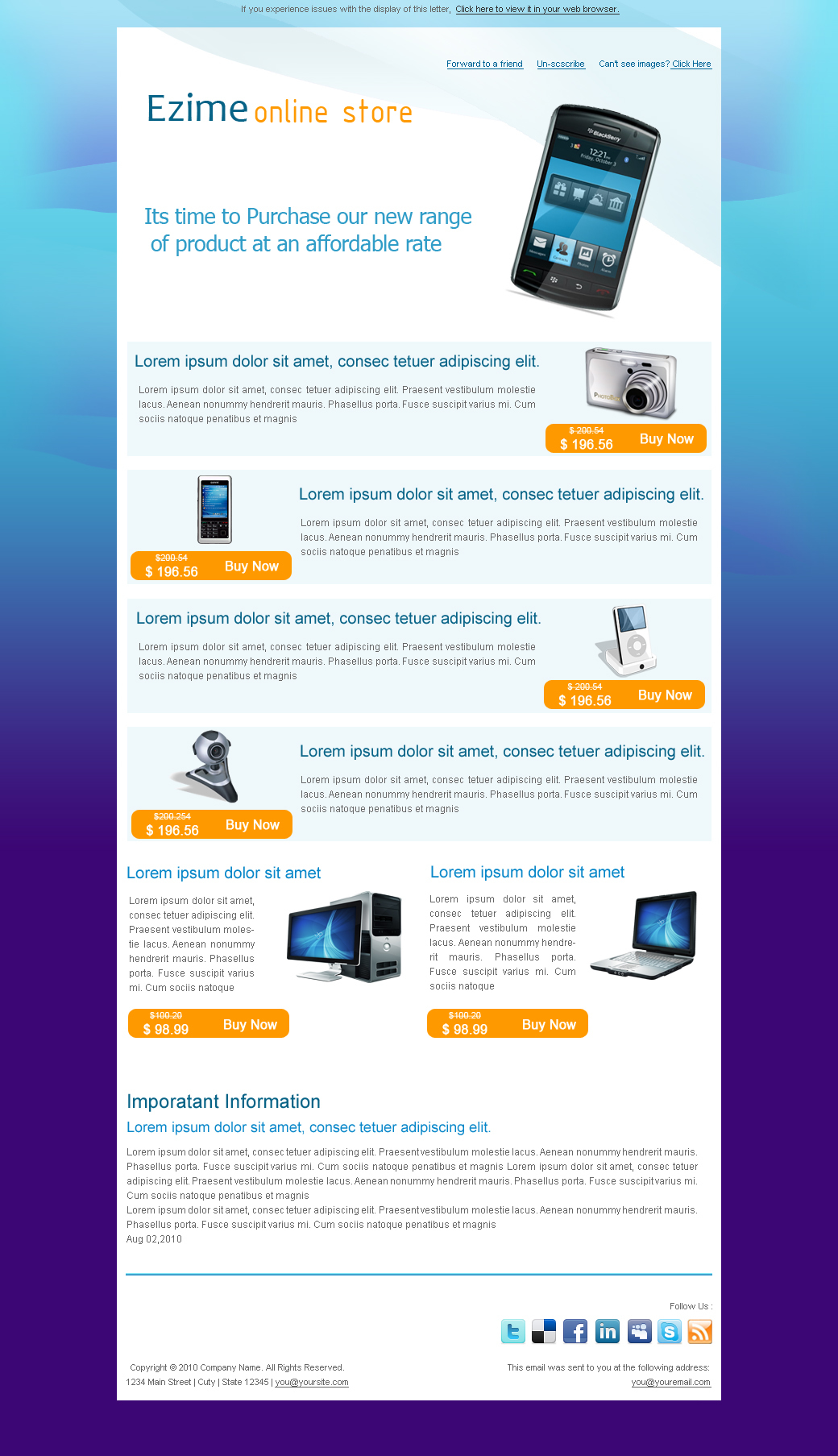 Information Technology Newsletter Template Romeolandinezco - Online newsletter templates