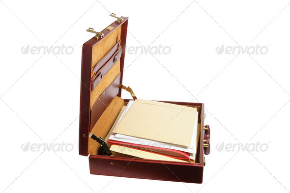 Briefcase with Files - Stock Photo - Images