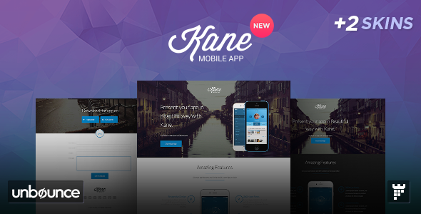 Kane – Unbounce App Landing Page