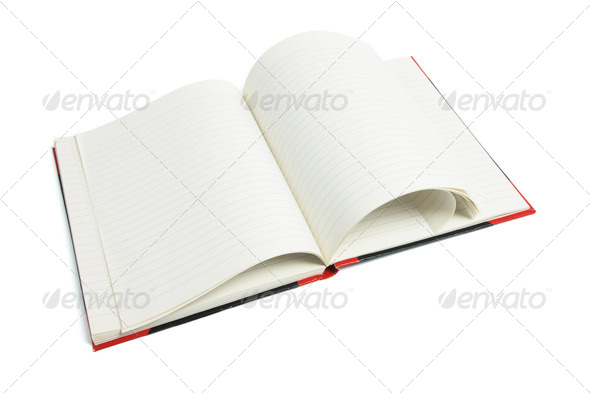 Open Note Book - Stock Photo - Images