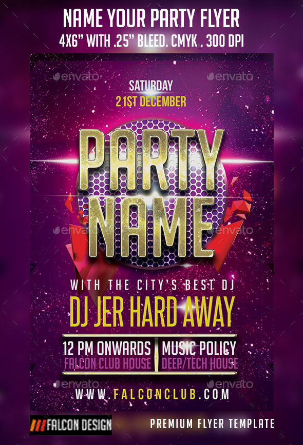 Name Your Party Flyer - Clubs & Parties Events